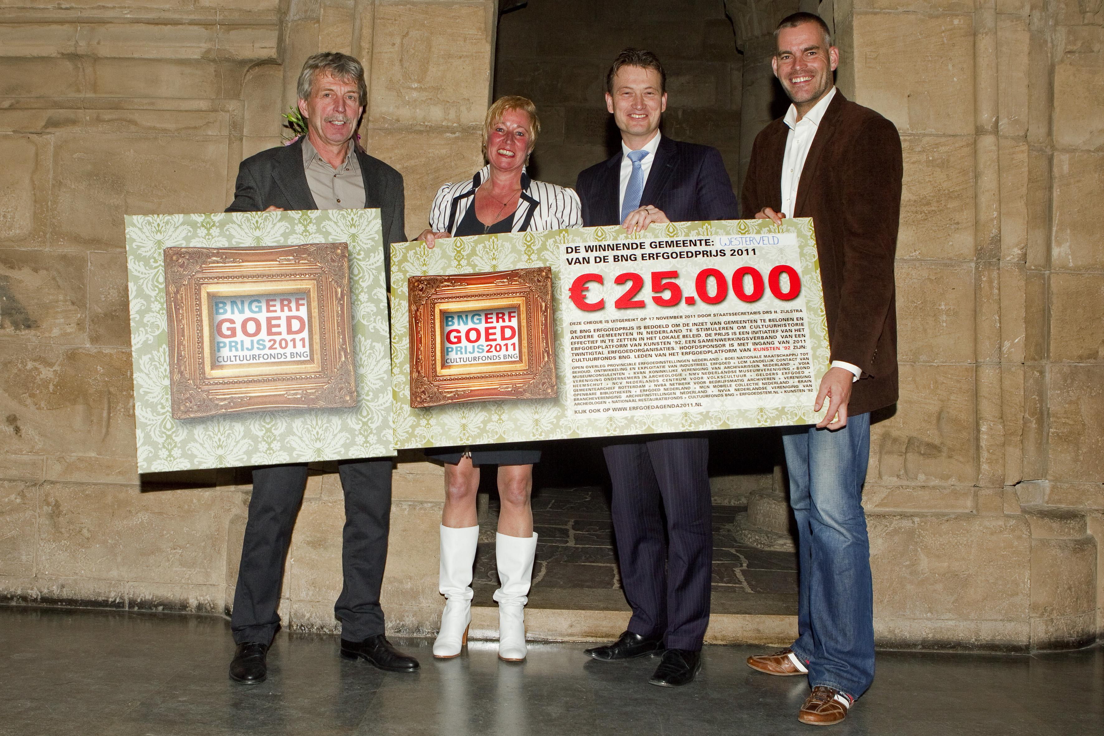 Gemeente Westerveld winnaar BNG Erfgoedprijs 2011