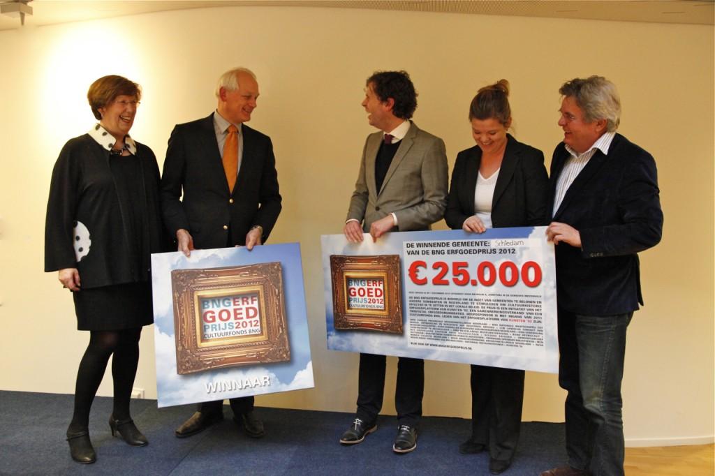 Gemeente Schiedam winnaar BNG Bank Erfgoedprijs 2012