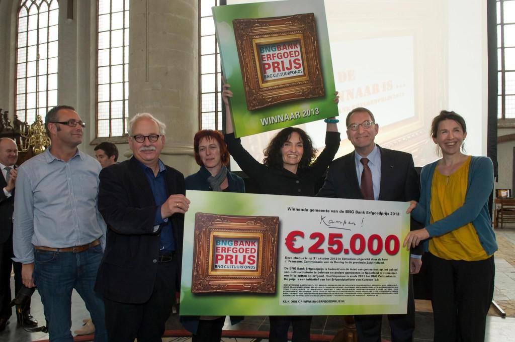 Gemeente Kampen winnaar bng bank erfgoedprijs 2014 kunsten 92